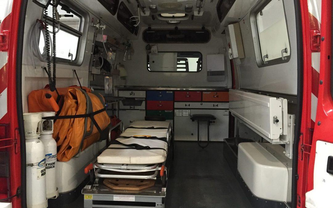 Image intérieure d'une ambulance