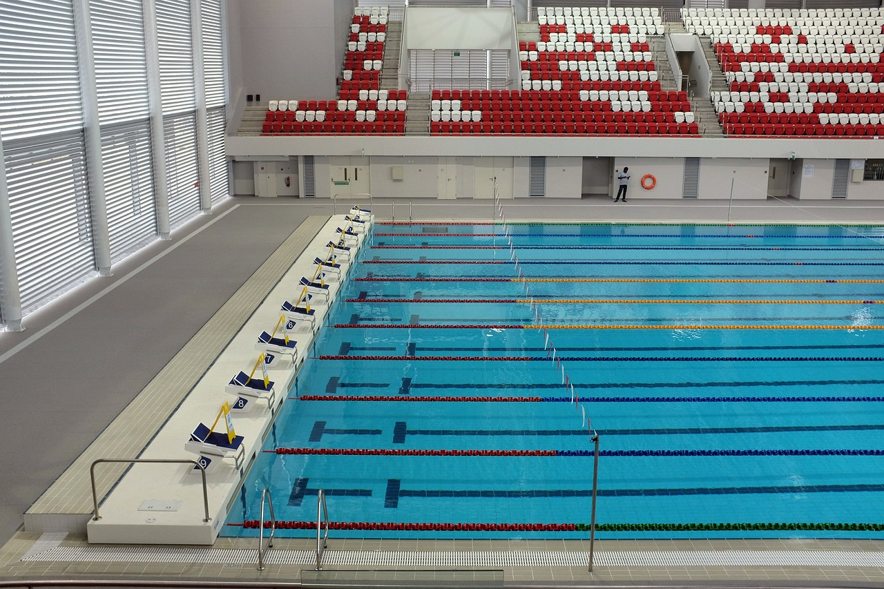 traitement à l'ozone des piscines olympique par le comité des JO
